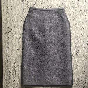 Burberry Prorsum Floral Jacquard Skirt sz 38